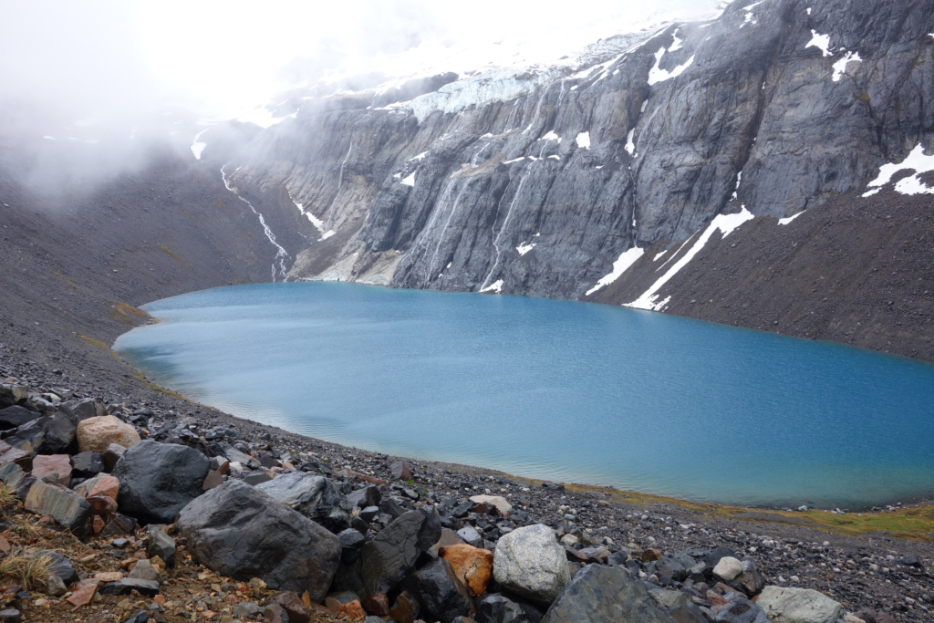 Insane blue lake.